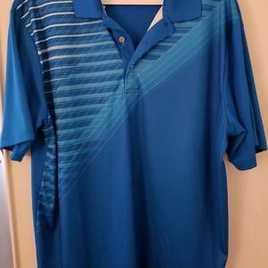 PGA Tour Golf Shirt Blue Mens XL